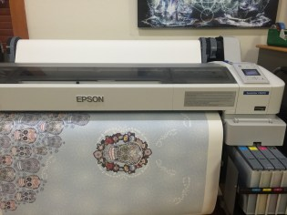 Printing the image on dye sub transfer paper