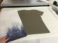 a photo ready to press on a colored shirt