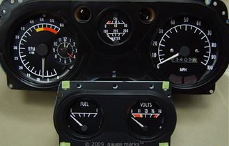 water temperature gauge wiring diagram mercedes e500 1970 1971 1972 1973 trans am dash gauges& related parts