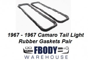 1967 1968 Camaro New Tail Light Gaskets Seals