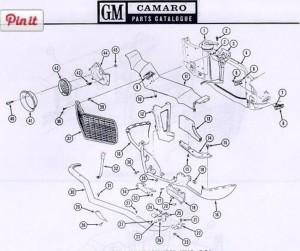 1970  1973 Camaro Standard Nose Exploded Diagram