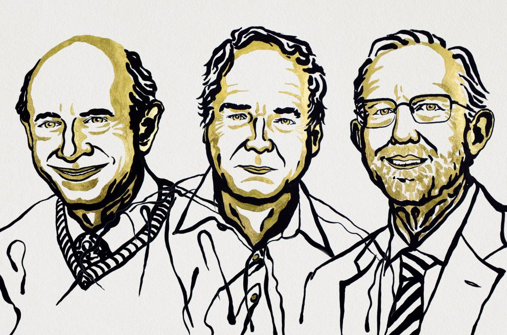 Congratulations to 2020 Nobel Prize in Physiology and Medicine winners Harvey J. Alter, Michael Houghton and Charles M. Rice (L-R) for their groundbreaking research that led to the discovery of the hepatitis C virus. Image credit: Niklas Elmehed. © Nobel Media