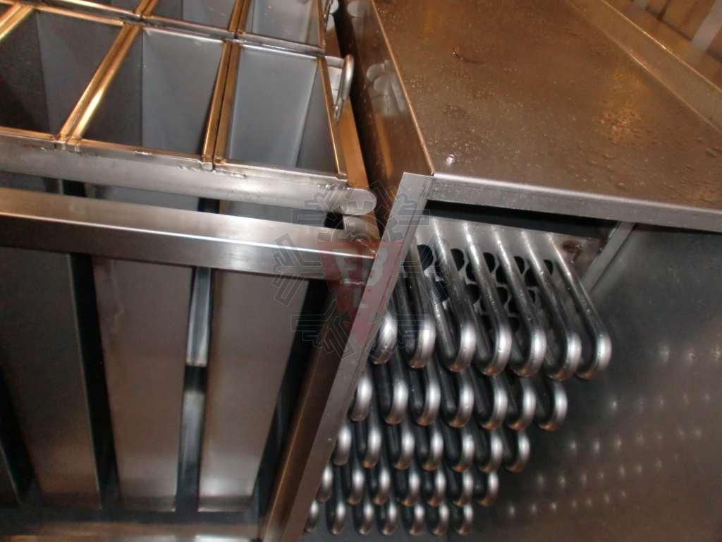 Pormenor cubas e evaporador