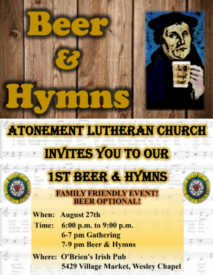 Beer & Hymns, hosted by Atonement, Wesley Chapel