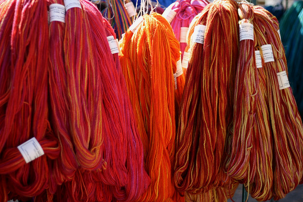 worsted weight reds and oranges