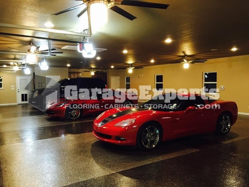 San Antonio Garage Experts  Recent Garage Floor Epoxy Coating and Garage Storage Cabinet