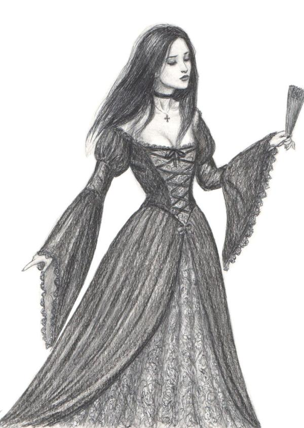 Gothic Lady With Fan Final Dashinvaine Deviantart