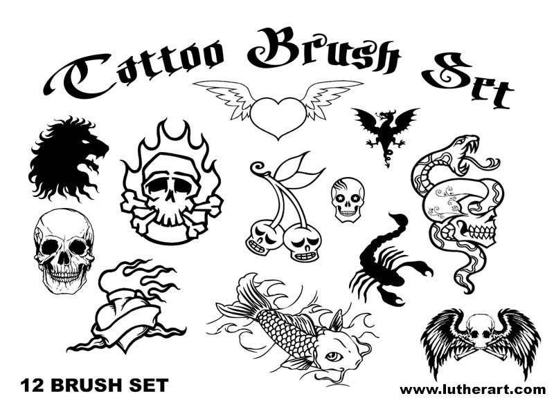 TATTOO Brush Set by luther1000 on DeviantArt