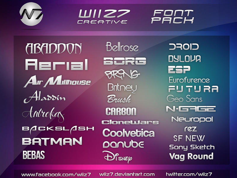 Download Wiiz7 Creative Font Pack #1 by daWIIZ on DeviantArt