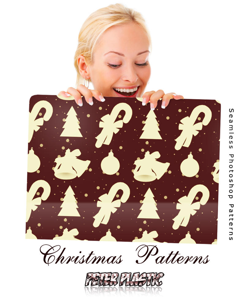 Christmas patterns by *PeterPlastic on deviantART