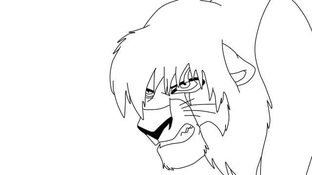 Lion King Kovu Drawing