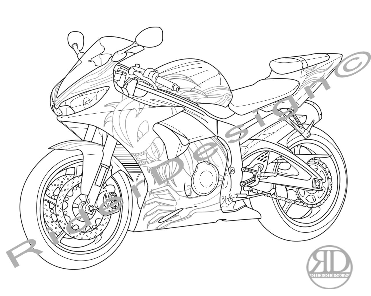 Yamaha R6 Vector Outline By 360rider On Deviantart