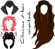 entertainment anime hair