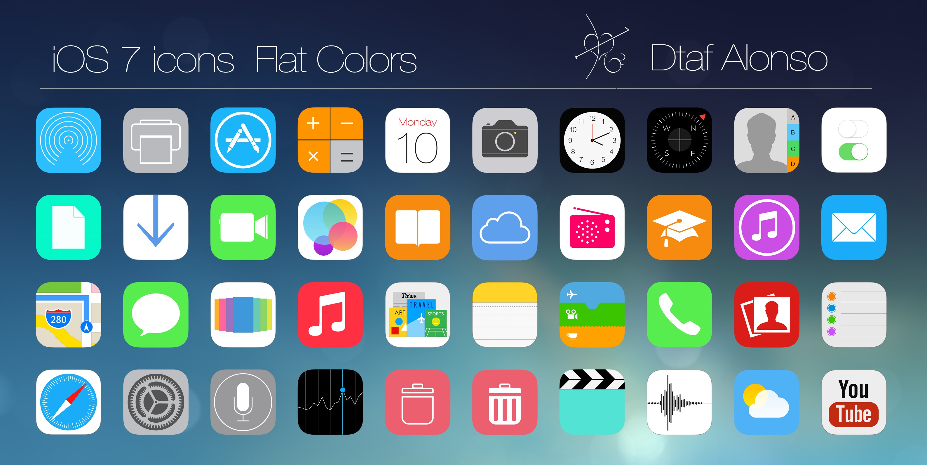 Ios 7 Flat Icons By Dtafalonso On Deviantart