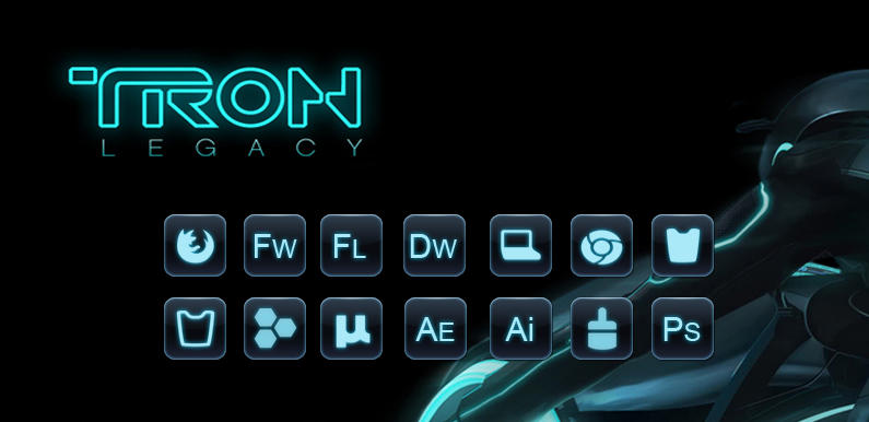 Make Your Own Iphone 5 Wallpaper Tron Object Dock Icons By Ryujin2490 On Deviantart