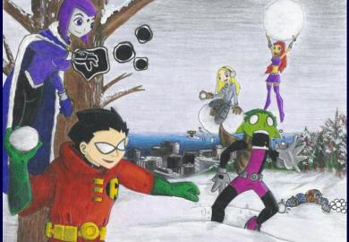 Snowball Fight Cartoon Network