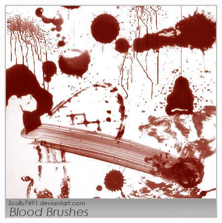 photoshop blood brushes