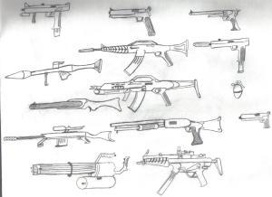 guns drawings deviantart