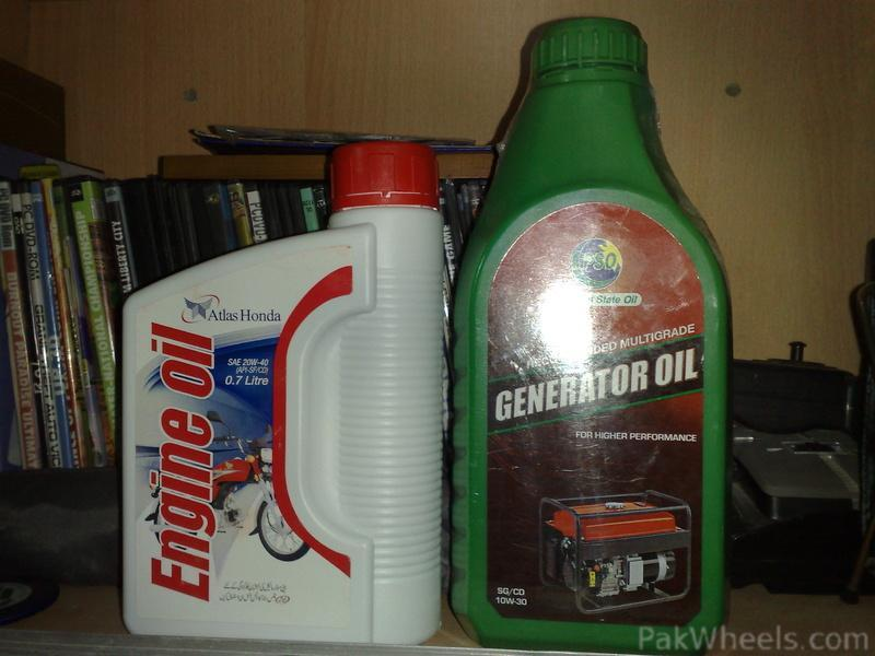 today bought engine oil for generator and for my bikecd70 mechanical electrical