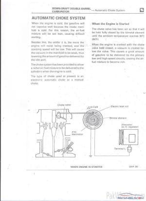 Suzuki Cultus  05 Carby  Auto Choke Wiring  Cultus