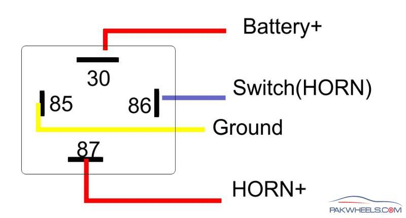 4 Pin Relay Wiring Diagram on air horn wiring diagram