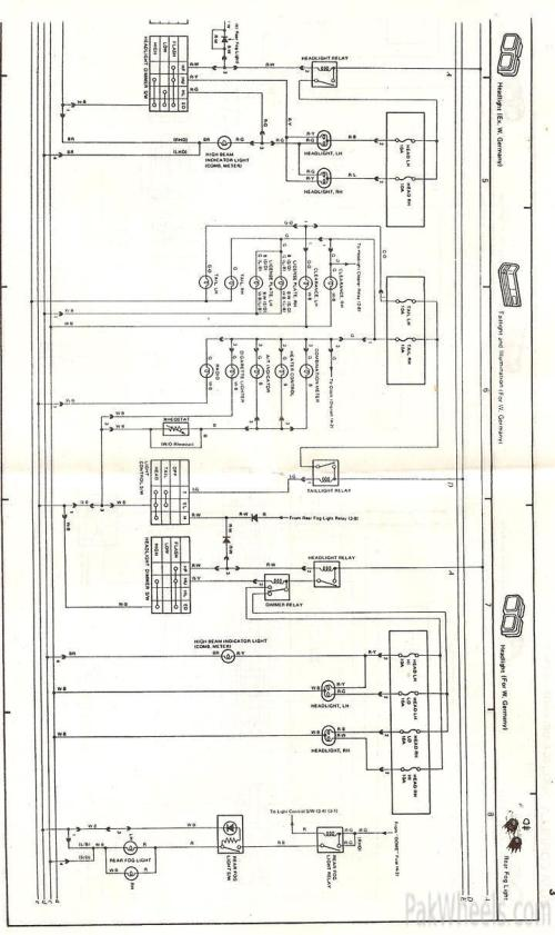 1986 Toyotum Headlight Wiring Diagram - 1986 toyota ... on