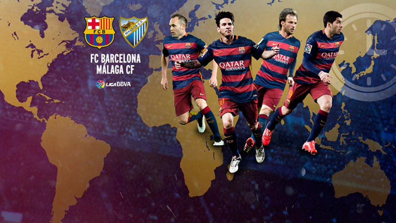 When and where to watch FC Barcelona v Màlaga CF