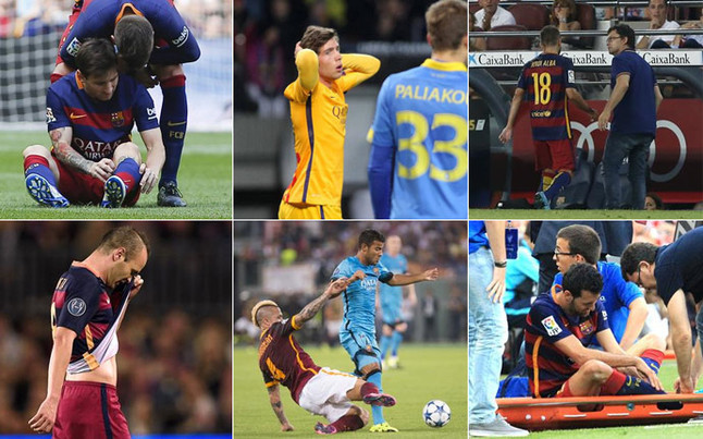 Barcelona injuries for this season