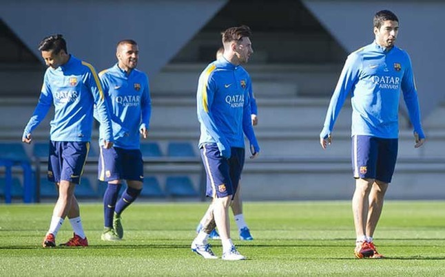 Messi is on training track