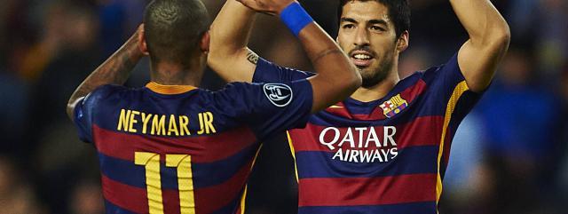 Neymar Jr and Luis Suárez, the deadly duo