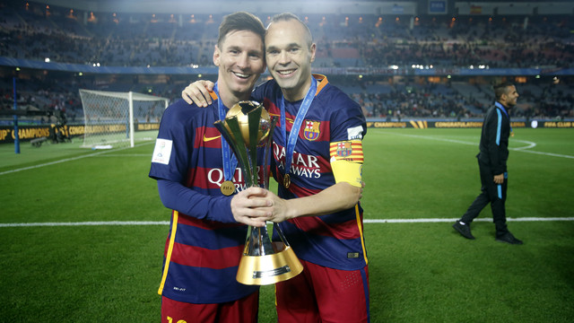 Messi and Iniesta top Xavi's 25 titles