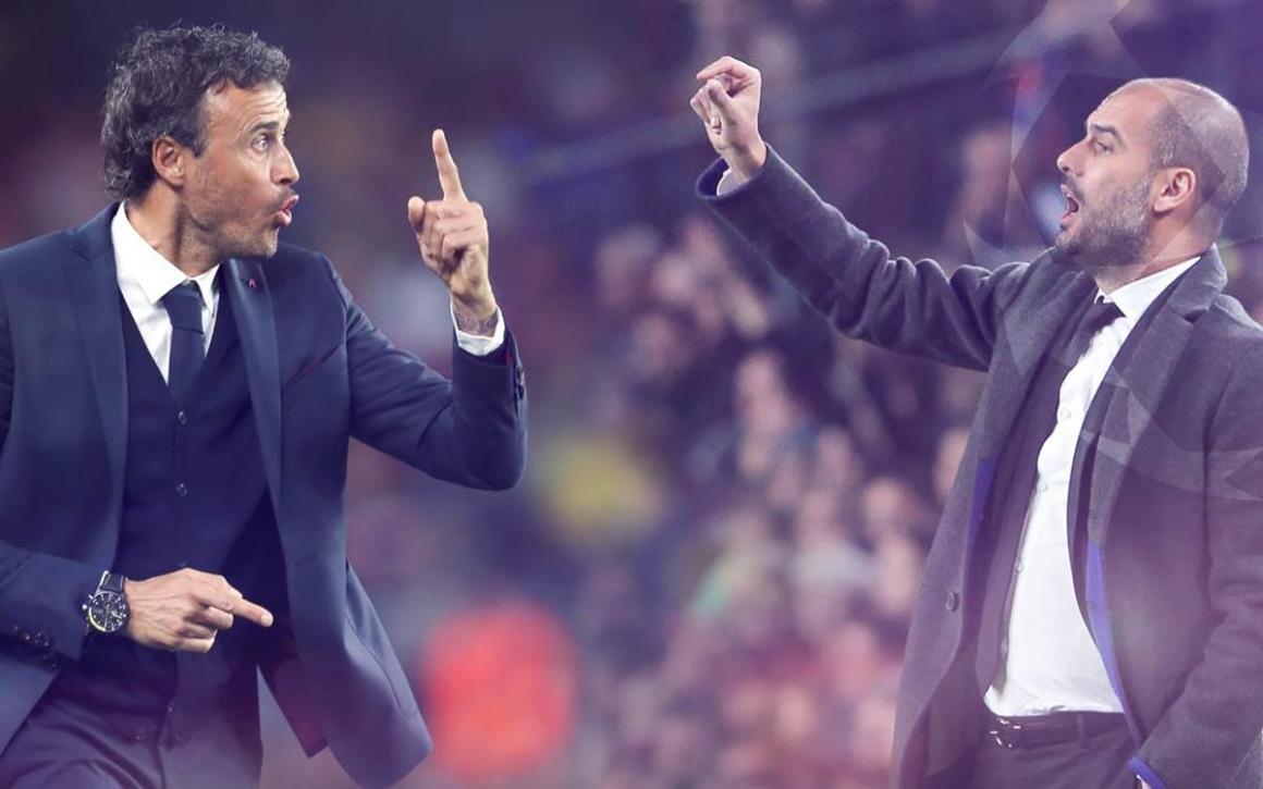 Kết quả hình ảnh cho pep guardiola Luis Enrique