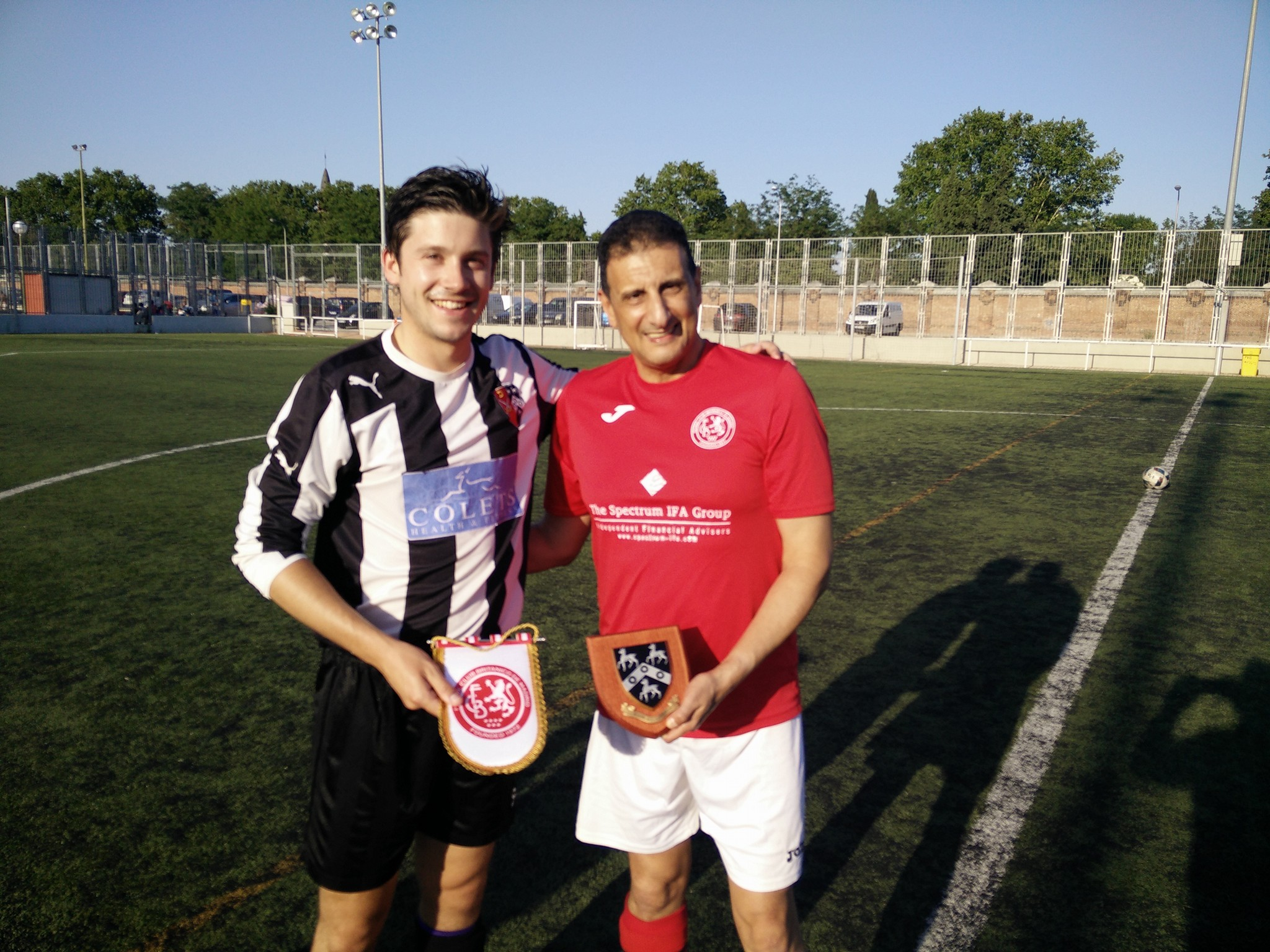 FCB manager Rami Majid & Old Pauline's captain pre-kickoff