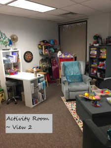Activity room for Theraoy at Full Circle Counseling In Dallas, TX