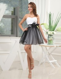 Black And White Homecoming Dresses , Beautiful Flowers ...