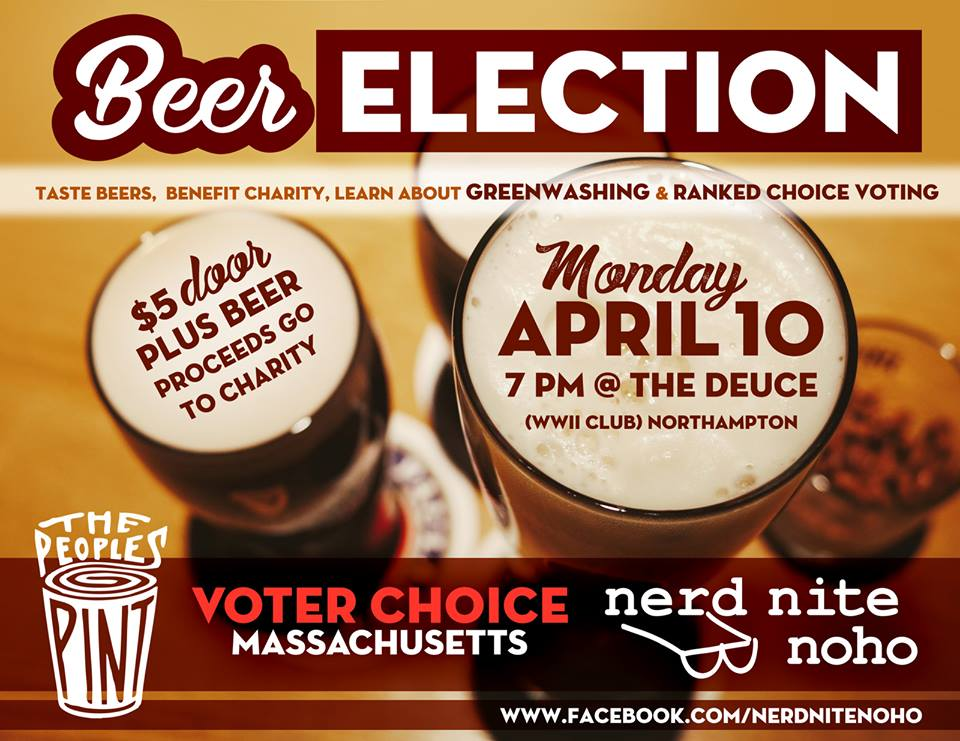 'Ranked Choice' Beer Election in Northampton April 10