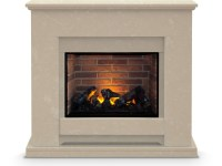 The Camden Fireplace Suite in Roman Stone with Dimplex ...