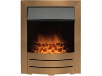 Adam Colorado Electric Fire in Copper Gold | Fireplace World