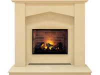 The Georgia Optimyst Fireplace Suite in Beige Stone, 48 ...