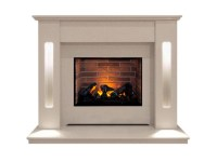 The Hollywood Optimyst Fireplace Suite in Beige Stone, 54 ...