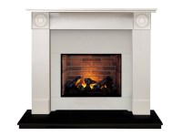 The Regent Optimyst Fireplace Suite in Sparkly White ...