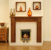 Kingston Marfil Fireplace + Adam Radiant Brass Gas Fire ...