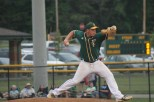 Senior Brandon Smith pitches against Columbus East for the final game of the HHC Tournament.