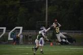 Senior Keaton Stiller intercepts the pass from the Seymour quarterback.