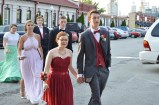 Seniors Grace Missi and Kyle Oelker start to arrive at Kye's in Jeffersonville, for the FC 2016 Prom. Photo by Sarah Strain.