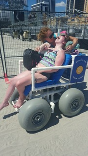 Enjoying time on the beach with family thanks to assistive technology available to everyone