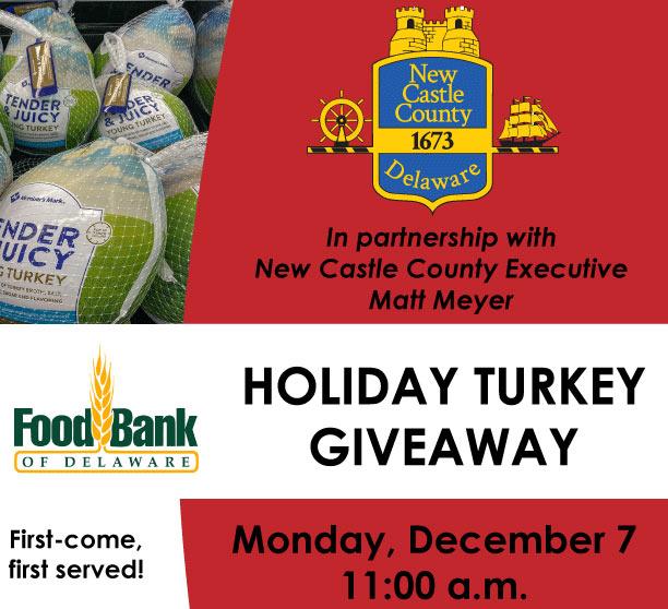 Foodbank of DE - Holiday Turkey Giveaway Banner