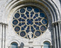 Stained Glass Window of Sacred Heart Catholic Church