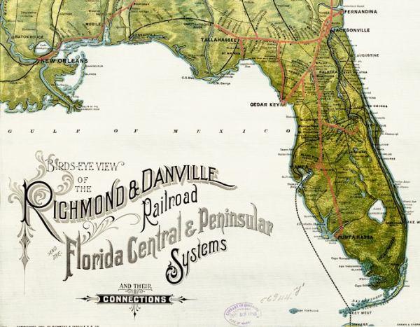 Rail Road Map of Florida 1893