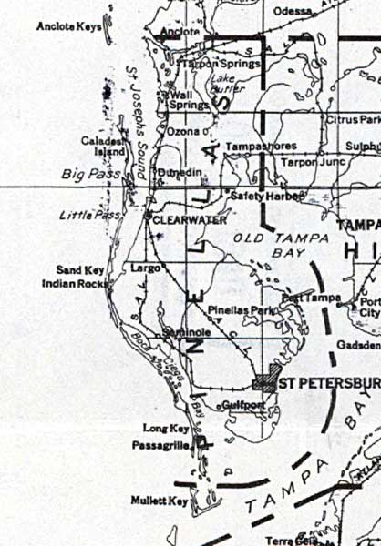Map of Pinellas County, Florida, 1932